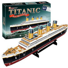 Wholesale Candice guo newest D puzzle toy CubicFun D paper model jigsaw game DIY Titanic royal mail st