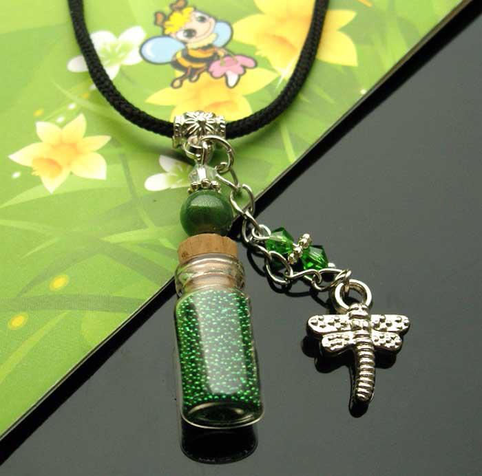 Fairy Dust Bottles (Assorted Designs) wishing bottle necklace wishing bottle jewelry wish vials