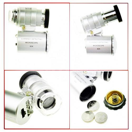 Begrenzte Menge Promotion 60x-Zoom-Mikroskop-Mikrokamera-Objektiv für iPhone 5 / 5S Mobiltelefon-Handy
