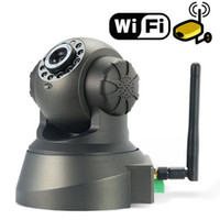 Wholesale Wifi Outdoor Web Cameras - IP Camera Web Wifi Network Camera Surveillance Angle Control Motion Detection IR LED Nightvision