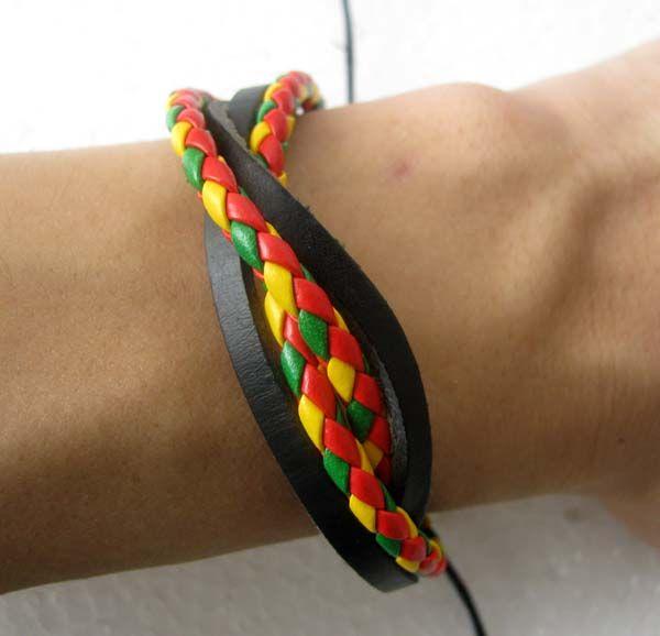 Gratis verzending Groothandel veel 60 stks gemengde stijl surfer manchet etnische tribal lederen armbanden cadeau