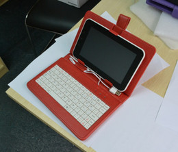 """Wholesale Case For Tablets Price - Best price 7"""" Leather case cover USB keyboard for Tablet pc"""