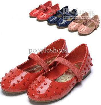 Kids Shoes Red Shoes Navy Pink School Girls Shoes Flat Shoes ...