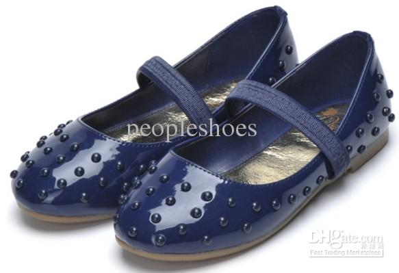 Girls Shoes 3Colors Red Navy Pink School Girls Shoes Flat Shoes .
