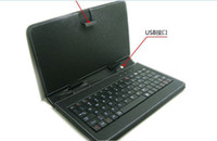 Wholesale tablet netbook for sale - Leather case with usb keyboard for inch Apad epad PC Tablet Netbook