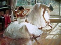 Wholesale Ballet Oil - Ballet Oil Painting Ballet Art Paintings Home Decoration Ballet Oil Paintings Handmade Ballet Oil