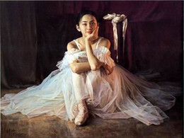 Wholesale Ballet Oil - Handmade Ballet Art Painting Ballet Nice Girl Oil Painting Decoration Ballet Art Paintings