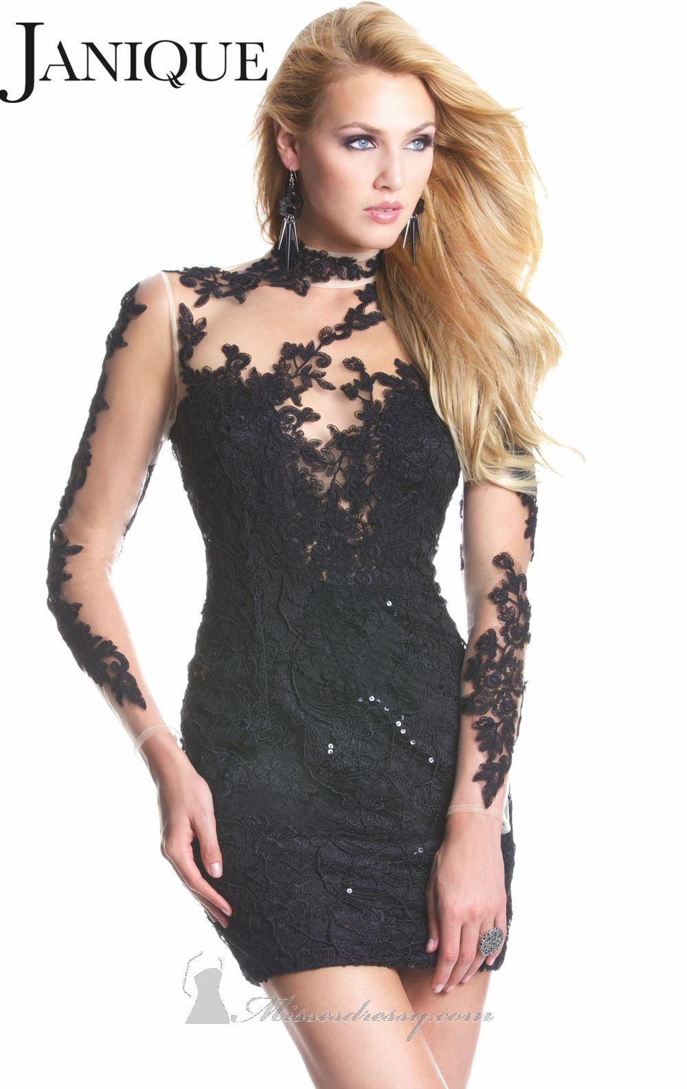 New Years Eve Dresses High Neck Backless Long Sleeve Mini 2012 Black Party Evening Cocktail Prom Cocktail Dress Men Cocktail Dress Plus Size From Fine Dresses 103 92 Dhgate Com