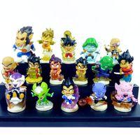 Wholesale Dragon Ball Z Mini Toys - Dragon Ball Z Figure Mini PVC Figures Toy Japan Anime Cartoon Figure doll Set of 16 Size 4-7CM