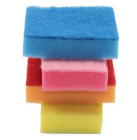 Wholesale Multi Colored Sponges - Wholesale Magic Colorful Sponge Eraser Melamine Colored Cleaner,multi-functional Cleaning 100x70mm 100pcs lot