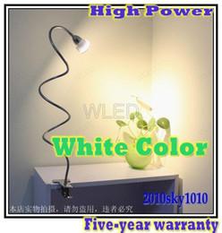 Wholesale Desk Clip - 3*3W High Power White LED DESK LAMP clip tube reading lighting cree bulb