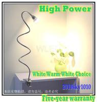 Wholesale High Power Led Desk Lamp - High Power 50cm Long Tube Reading Lighting High Power Clip Style LED Desk lamp White Color table lam