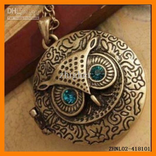 2018 photo frame owl pendant necklace vintage owl jewelry zhnl02 2018 photo frame owl pendant necklace vintage owl jewelry zhnl02 418101 from zhigher 37 dhgate aloadofball Image collections