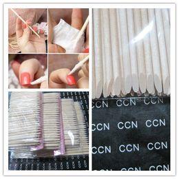 Wholesale Nail Art Care Tools - [AB815]Wholesales 100pcs 11.5cm Orange Wood Sticks Nail Art Care Salon Cuticle Pusher Remover Manicure Tool
