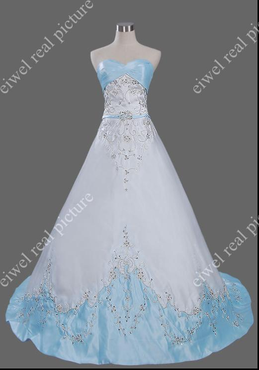 Sweep Train Length Wedding Dresses A Line Sweetheart Beaded Appliqued White Taffeta Bridal Gowns
