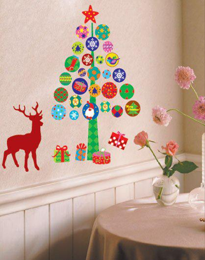 High Quality Free Shipping,Christmas Tree Stickers,Xmas Reindeer Wall Decal Charms Home  Decor,christmas Gift ,HL5 Part 17