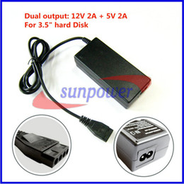 $enCountryForm.capitalKeyWord Canada - 10PCS LOT 12V 2A+5V 2A Dual Output Power Adapter Supply for hard disk drive, HDD CD DVD-ROM with 4PIN SATA Port