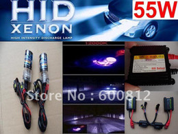Wholesale Xenon 55w Ballast - HID HEADLIGHTS XENON HID Conversion Kit AC 55W H7 12000K HID Xenon Kit bulb ballast Xenon HID Lamp