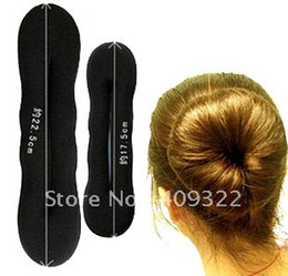 Foam Bun Accessory Canada - Fashion hair accessory 30Pairs X Foam Magic Hair Styling Bun Make Twist Make Clip Big & Small