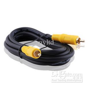CHOSERL 4N OFC Erkek tek RCA Q-706 kompozit Video kablosu AV kablosu RCA hattı 1.8 M / 3 M / 5 M / 10 M