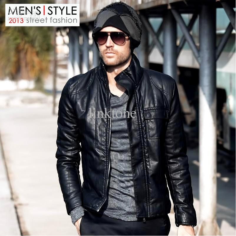 Wild Beast Men's Cool Motorcycle Jacket Thicken Men Coat Jacket ...