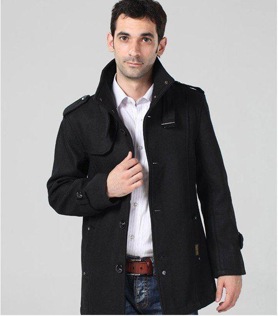 Best Quality Mens Long Trench Coat Wool Overcoat Men Wool Coat ...