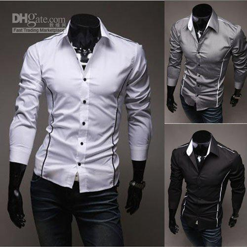 Best Mens White Shirts Men Fashion Clothing Men's Handsome Shirt ...