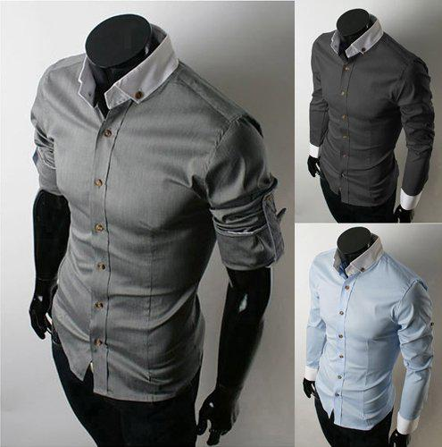 Mens Summer Shirts Fitted Mens Shirts Men Fashion Clothing Casual ...