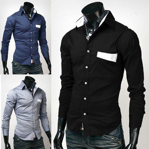 Cheap Mens Shirts Men Casual Shirt Mens Dress Clothing Design ...