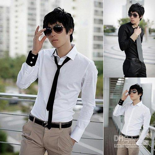 Mens Cheap Shirts Men Dress Clothing Designer Mens Shirts Black ...