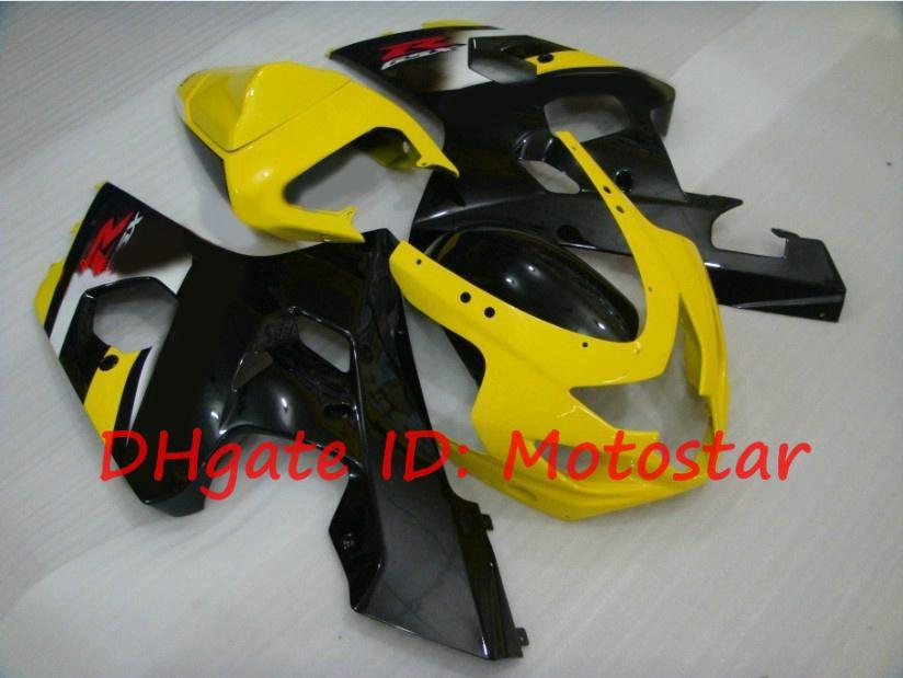 Gul svart för SUZUKI GSX-R600 GSX-R750 2004 2005 K4 S648 GSXR 600 750 GSXR750 04 05 Fairings Kit