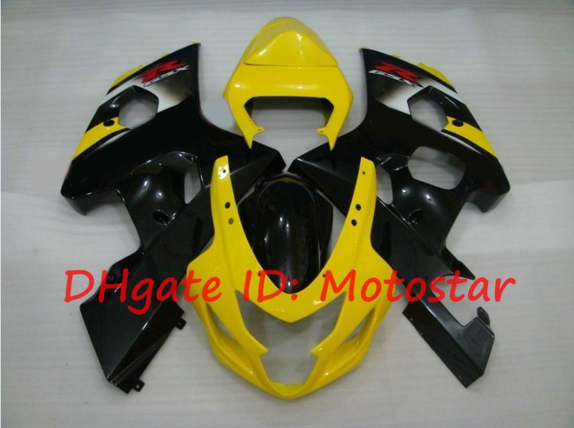 Preto amarelo para SUZUKI GSX-R600 GSX-R750 2004 2005 K4 S648 GSXR 600 750 GSXR750 04 05 kit de carenagens