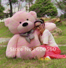 Wholesale 24 Inch Teddy Bear - Pink Color Giant Plush Stuffed Teddy Bear Kids Toy Birhtday gift Free Shipping FT90056 78 INCHES (200cm)