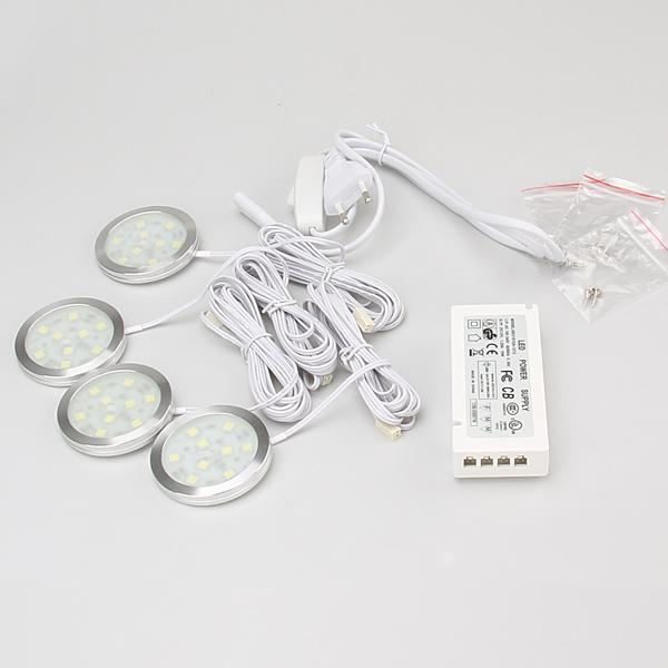 Lumière LED Cabinet Avec conducteur à réglage électrique et la boîte de jonction mince ronde style simple SMD5050 Lumière du Cabinet
