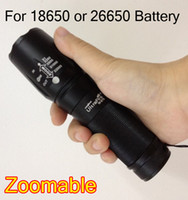 Wholesale 26650 flashlight battery for sale - Group buy NEW Arrival lumen CREE adjustable Zoom XM L T6 LED Flashlight Torch for Battery