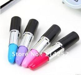 Wholesale Ballpoint Pens Wholesale - Free Shipping Lipstick pen Four colors Creative ballpoint pen 102 pieces   lot