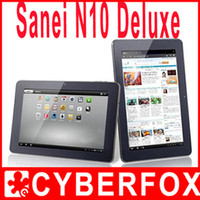 "Wholesale Sanei Tablet 1gb - 10"" Sanei N10 Deluxe IPS Screen Bluetooth Tablet PC Allwinner A10 Andriod4.0 16GB Dual Camera HDMI"
