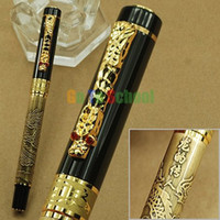 Wholesale Dragon Roller Ball Pens - FREE SHIPPING JINHAO 920 BRASS LEGEND OF THE DRAGON ROLLER BALL PEN