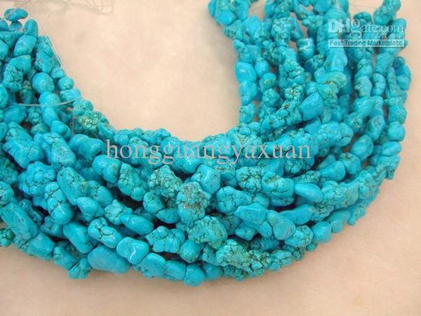 Nieuwe mode turquoise bead cham stijl Dangle Chain Style.bts-087