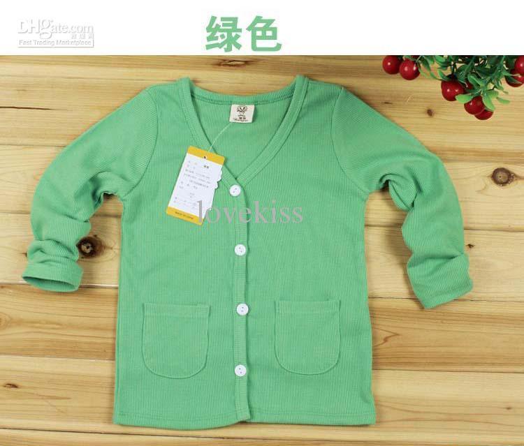 패션 의류 착용 아동 셔츠 소년과 소녀 카디 키즈 스웨터 긴 소매는 셔츠 탑