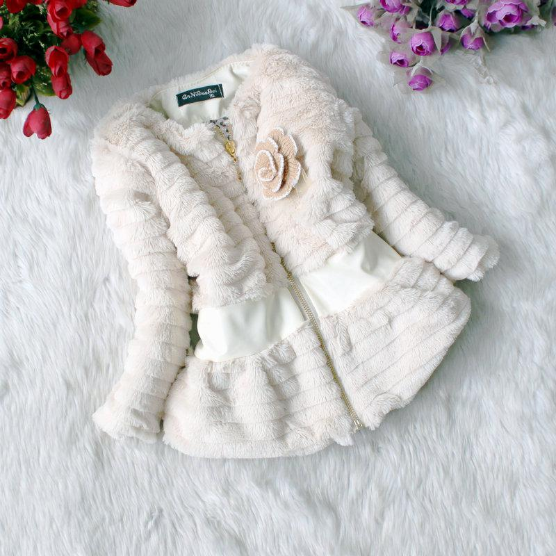New Winter Girls Baby Fur Coats Leopard Inside Long Sleeve ...