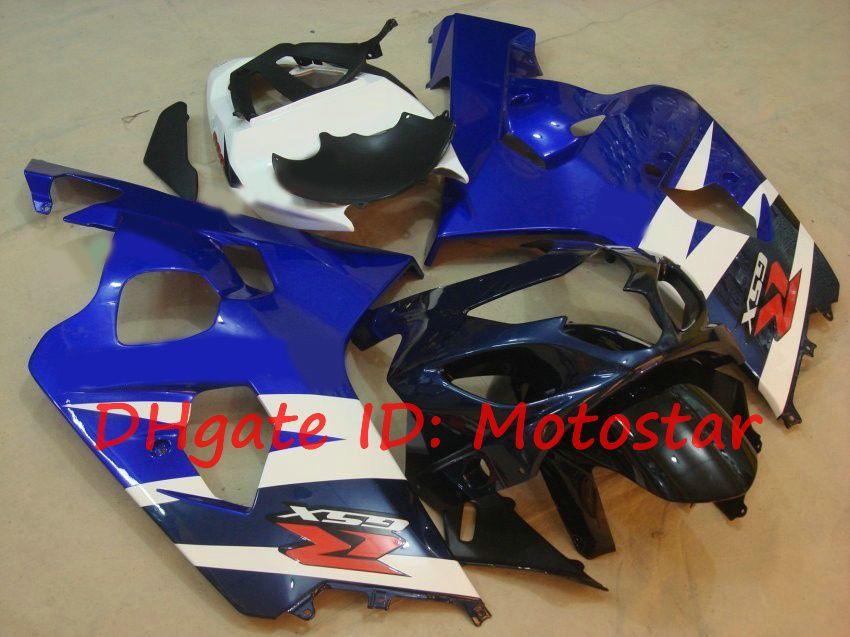 OEM Blue White Kit 2004 2005 Suzuki GSXR600 GSXR750 K4 S64F 04 05 GSXR 600 GSX-R 750 GSX-R 750 GSX-R 750 FAIRING