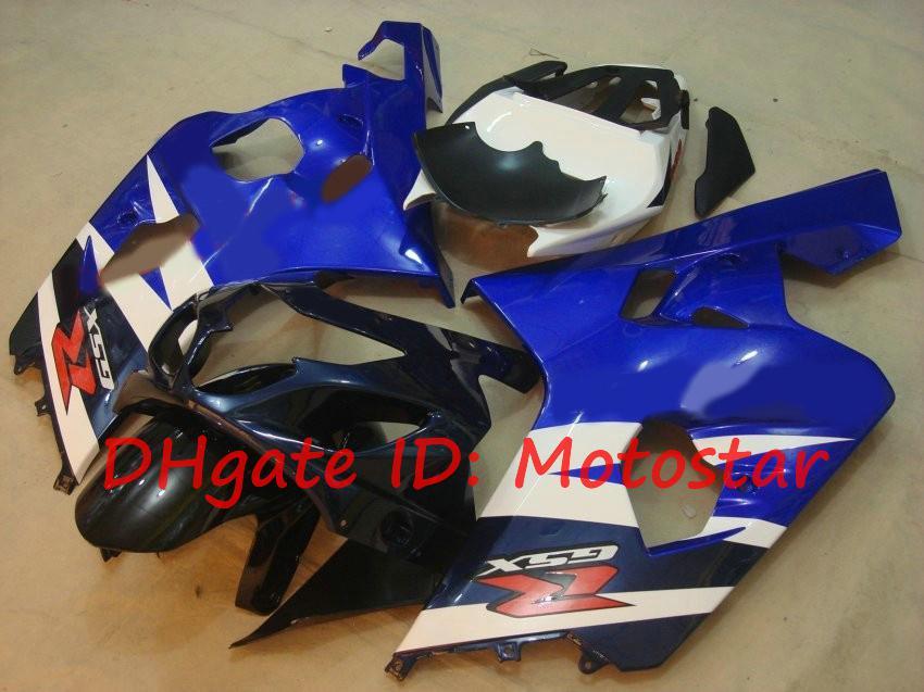 Kit blanc bleu OEM pour 2004 2005 Suzuki GSXR600 GSXR750 K4 S64F 04 05 GSXR 600 GSX-R 750 Catériel