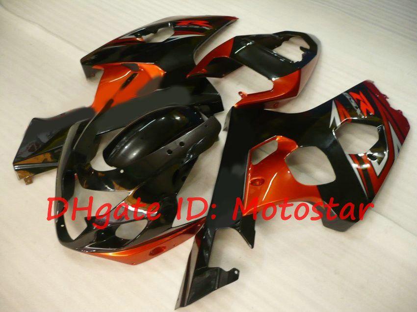 Kit orange noir pour le carénage 2004 SUZUKI GSX-R600 GSXR750 K4 S64I 04 05 GSXR 600 GSX-R 750