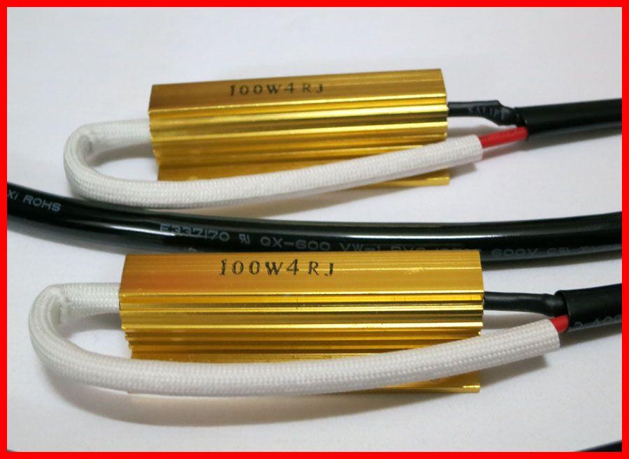 20 unids HID Xenon Gold Fuse 100 W Canbus Error de Alambre de Advertencia Cancelador Decoder 70/75 W H1 H3 H4 H7 9004