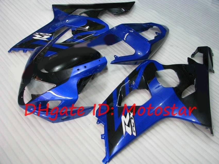 kit de carenado para SUZUKI 2004 2005 GSXR600 GSXR750 K4 04 05 GSXR 600 GSX-R 750 Azul negro S64N