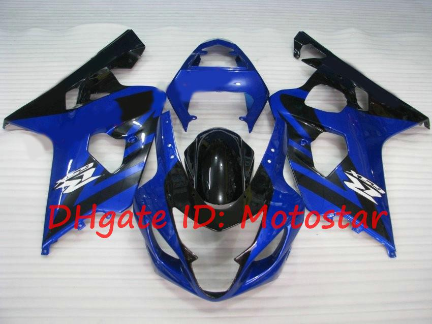 스즈키 용 페어링 키트 2004 2005 GSXR600 GSXR750 K4 04 05 GSXR 600 GSX-R 750 블루 블랙 S64N