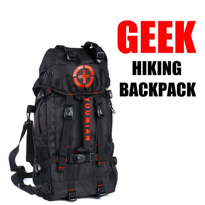 Men's Three Functions Geek Camping Hiking Backpack Outdoor ...