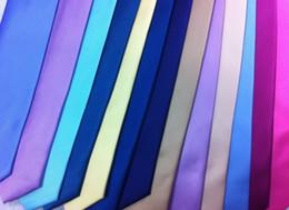 Wholesale White Cravat - NEW ARRIVAL Plain solid stripe color silk men's ties formal necktie men ties cravat men tie 5pcs lot #1711