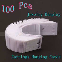 Wholesale Fashion Earring Cards - 100X Fashion Jewelry Packaging Earring Hanging Display Plastic Cards 50x37mm
